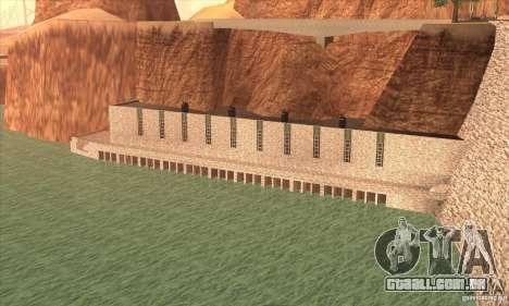 A nova barragem para GTA San Andreas terceira tela