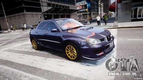Subaru Impreza STI Wide Body para GTA 4 interior