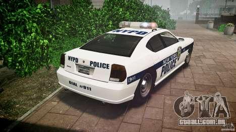 FIB Buffalo NYPD Police para GTA 4 traseira esquerda vista