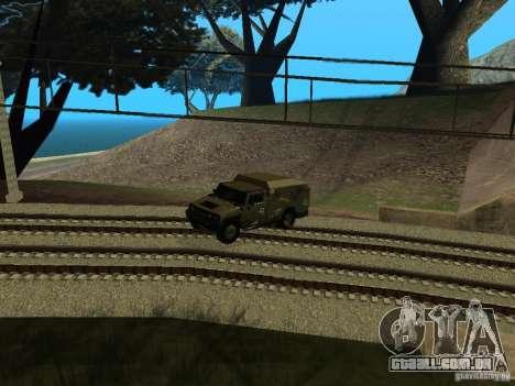Hummer H2 Army para GTA San Andreas vista traseira