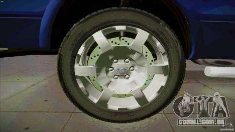 Ford Lobo Lariat Ecoboost 2013 para vista lateral GTA San Andreas