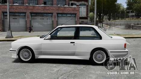 BMW M3 E30 v2.0 para GTA 4 esquerda vista