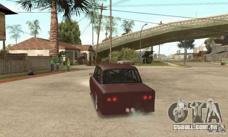 Estilo de rua VAZ 2106 para GTA San Andreas esquerda vista