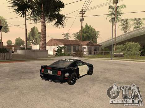 Saleen S281 2007 Barricade para GTA San Andreas traseira esquerda vista