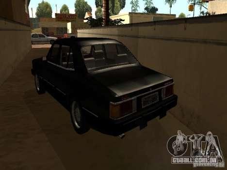Chevrolet Opala BMT para GTA San Andreas traseira esquerda vista
