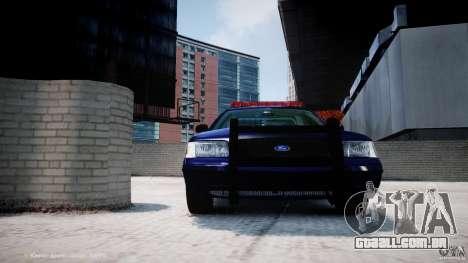 Ford Crown Victoria New York State Patrol [ELS] para GTA 4 rodas