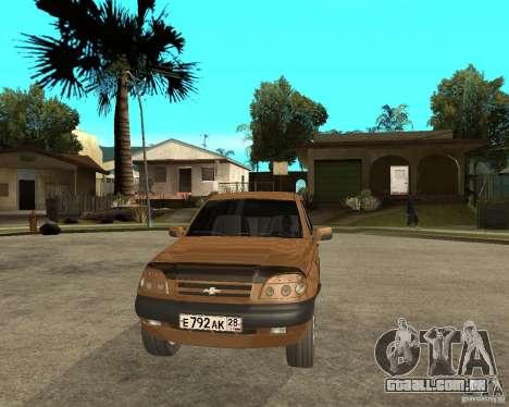 CHEVROLET NIVA Version 2.0 para GTA San Andreas vista traseira
