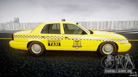 Ford Crown Victoria Raccoon City Taxi para GTA 4 vista de volta