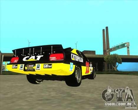 Dodge Nascar Caterpillar para GTA San Andreas traseira esquerda vista