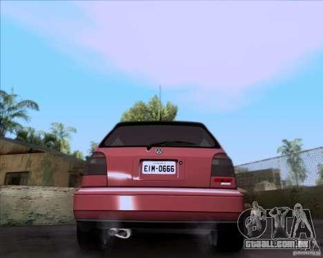 Volkswagen Golf MK3 VR6 para GTA San Andreas traseira esquerda vista