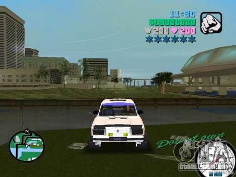 VAZ 2107 para GTA Vice City vista traseira