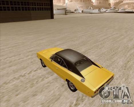 Dodge Charger RT 1968 Bullit clone para GTA San Andreas traseira esquerda vista