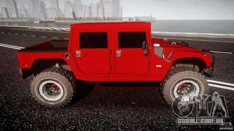 Hummer H1 4x4 OffRoad Truck v.2.0 para GTA 4 esquerda vista