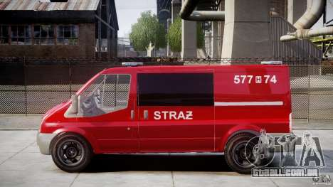 Ford Transit Polish Firetruck [ELS] para GTA 4 esquerda vista