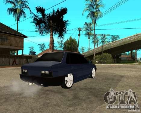 VAZ 21099 Tuning luz por Diman para GTA San Andreas traseira esquerda vista