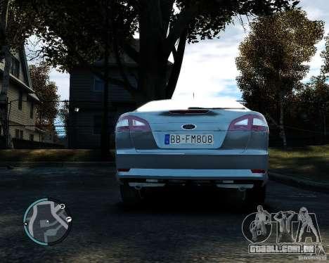 Ford Mondeo 2009 v1.0 para GTA 4 vista de volta