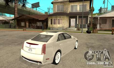 Cadillac CTS-V 2009 v2.0 para GTA San Andreas vista direita