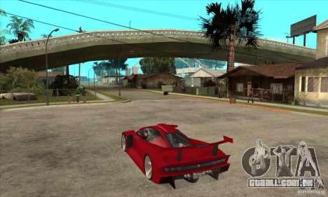 Alfa Romeo Tipo 33 GTI para GTA San Andreas traseira esquerda vista