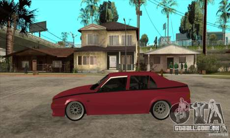 Alfa Romeo 75 Drifting para GTA San Andreas esquerda vista