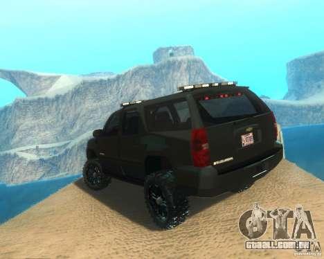 Chevrolet Suburban Crankcase Transformers 3 para GTA San Andreas esquerda vista