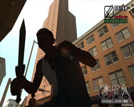 Gladius Knife para GTA San Andreas terceira tela