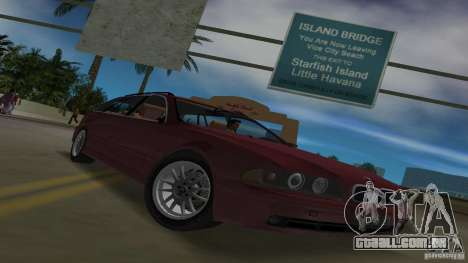 BMW 5S Touring E39 para GTA Vice City vista interior
