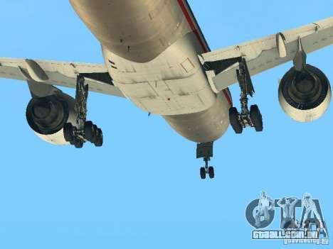 Boeing 777-200 American Airlines para GTA San Andreas vista traseira