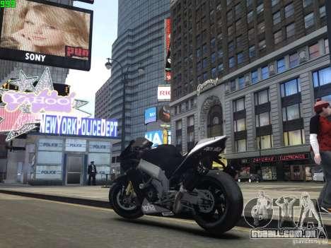 Aprilia RSV-4 Black Edition para GTA 4 vista direita