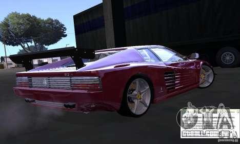 Ferrari 512 TR para GTA San Andreas esquerda vista