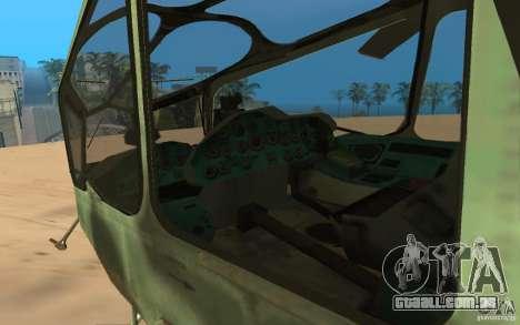 MI-24A para GTA San Andreas vista traseira
