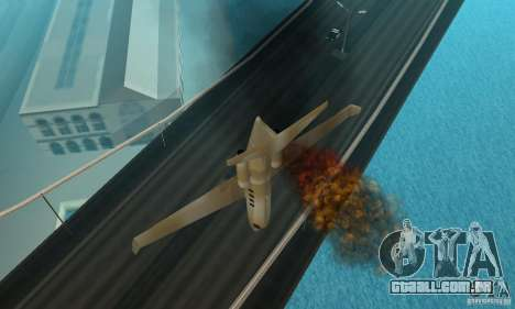 Gold shamal para GTA San Andreas vista traseira