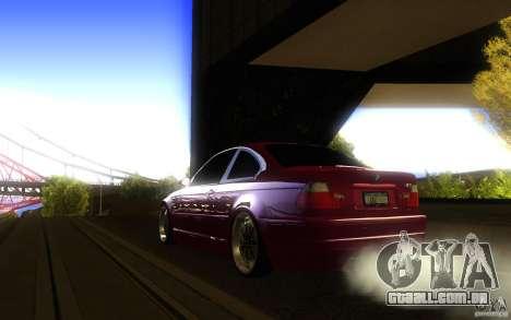 BMW M3 E46 V.I.P para GTA San Andreas vista traseira