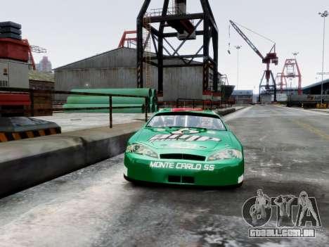 Chevrolet Monte Carlo SS 88 Nascar para GTA 4 vista de volta