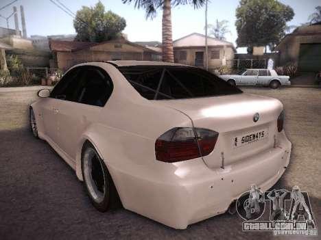 BMW 320SI Drift para GTA San Andreas traseira esquerda vista