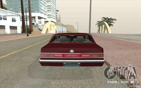 Chrysler Dynasty para GTA San Andreas traseira esquerda vista