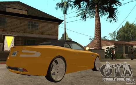 Aston Martin DB9 Volante para GTA San Andreas vista direita