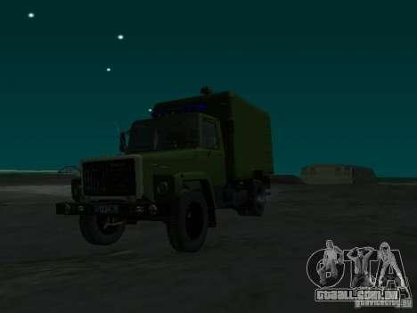 GAZ 3309 camburão para GTA San Andreas vista direita
