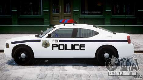 Dodge Charger FBI Police para GTA 4 traseira esquerda vista