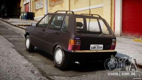 Fiat Uno 70SX 1989-1993 para GTA 4 vista lateral