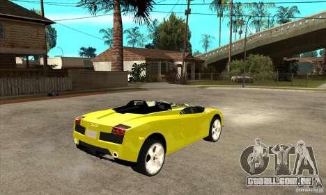 Lamborghini Concept S para GTA San Andreas vista interior