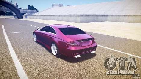 Mercedes Benz CLS Light Tuning v1.0 Beta para GTA 4 traseira esquerda vista