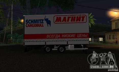 Trailer de Scania R620 para GTA San Andreas esquerda vista