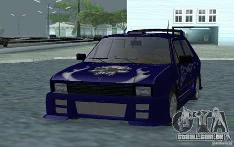 Yugo 45 Tuneable para GTA San Andreas esquerda vista