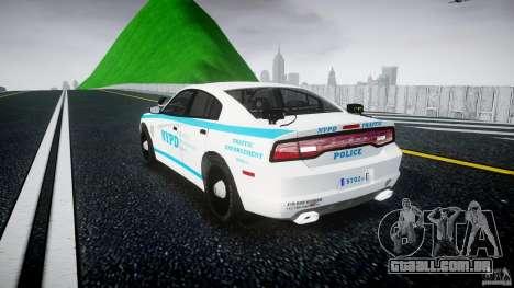 Dodge Charger NYPD 2012 [ELS] para GTA 4 traseira esquerda vista