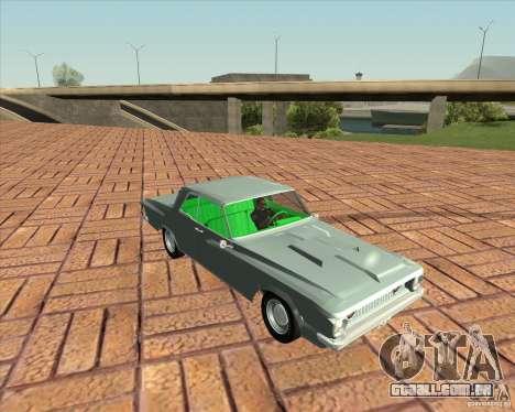 Plymouth Savoy 1962 para GTA San Andreas traseira esquerda vista