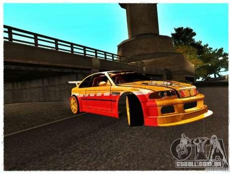 BMW M3 Calibri-Ace para GTA San Andreas esquerda vista