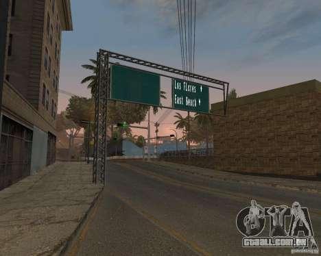 Estrada sinais v 1.0 para GTA San Andreas segunda tela