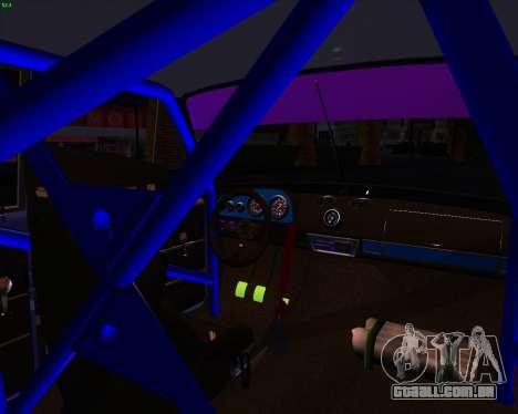 Carro de Drift 2101 VAZ para GTA San Andreas vista traseira