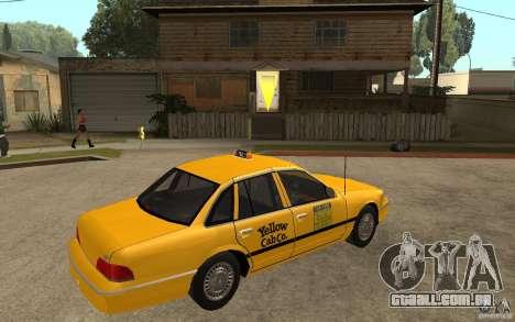 Ford Crown Victoria Taxi 1992 para GTA San Andreas vista direita