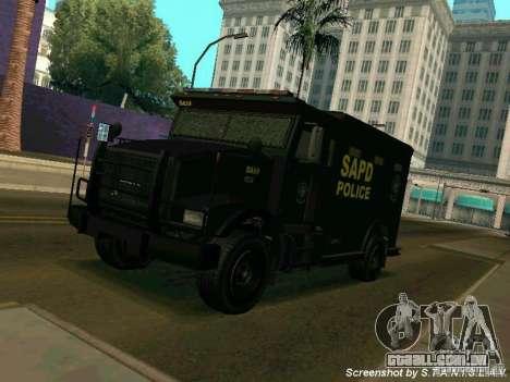 Stokade SAPD SWAT Van para GTA San Andreas